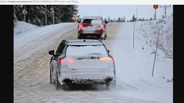 Nguyên mẫu thử nghiệm Audi RS Q3 2019 dầm mình trong trời tuyết lạnh ảnh 2