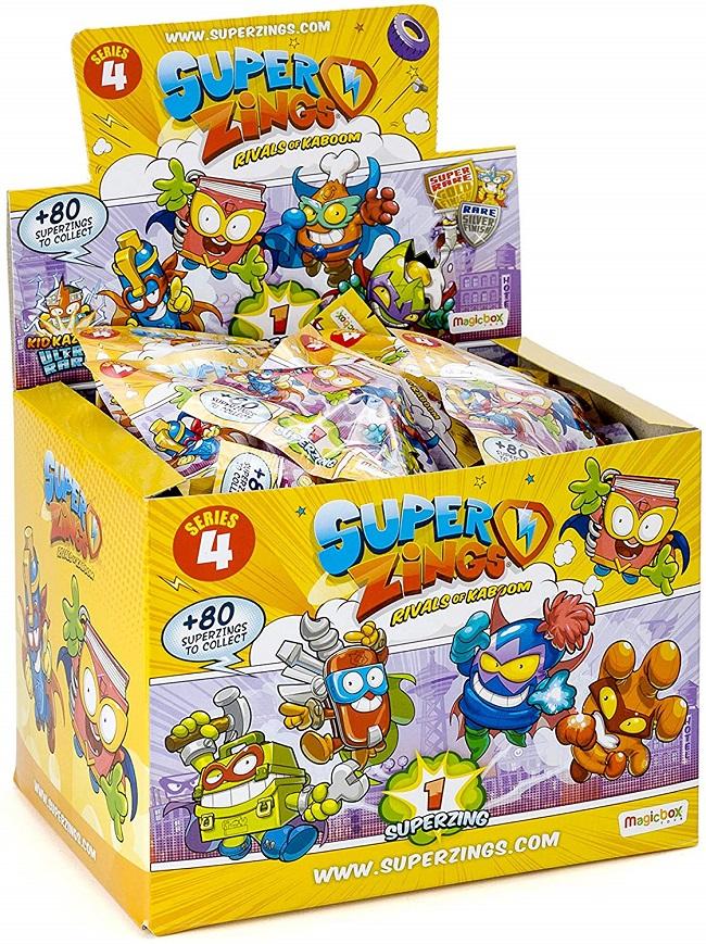 Superzings - Serie 4 - Display de 50 figuras coleccionables