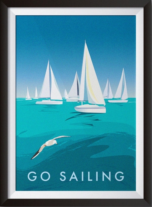 Go Sailing Graphic Art Print