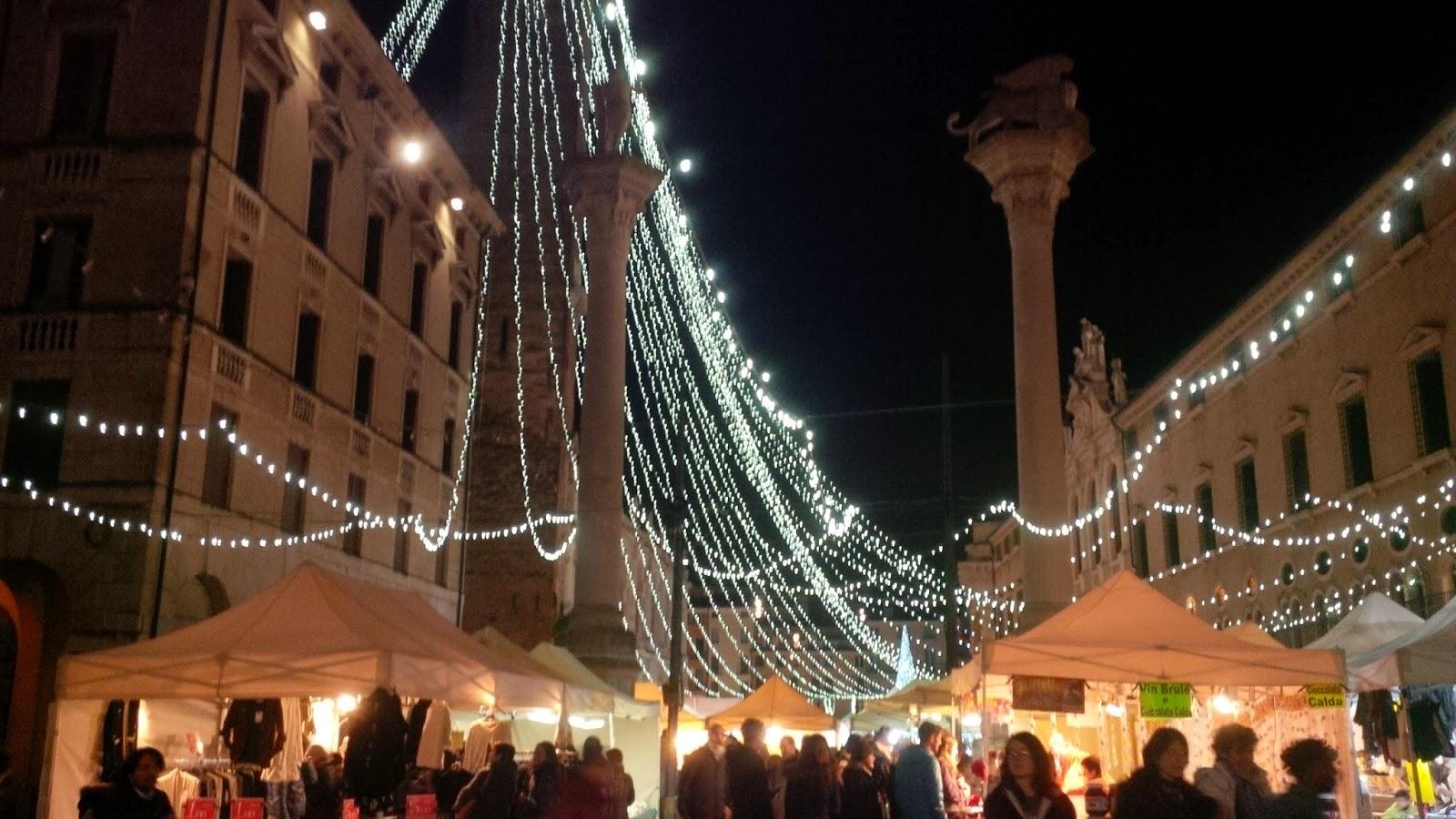 The Christmas market at Piazza dei Signori in Vicenza