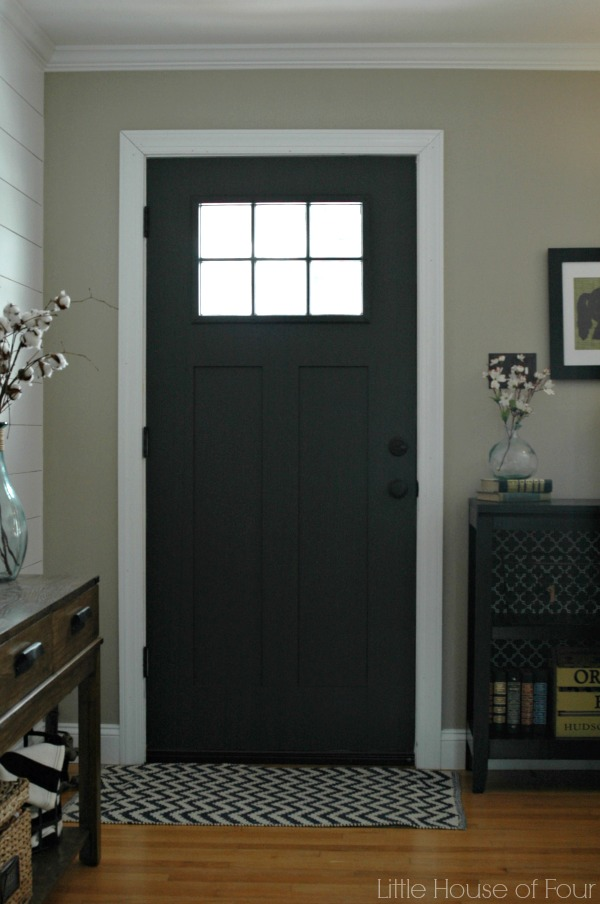 Painted front door, Sherwin Williams Iron Ore