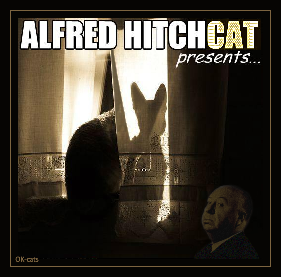 Photoshopped Cat picture • Alfred HitchCAT presents the creepiest cat movie ever!