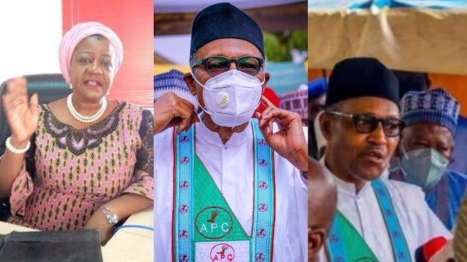 """""""Is it photoshop gone wrong?"""" – Lauretta Onochie reacts to viral photo of President Buhari not wearing a facemask in Daura"""