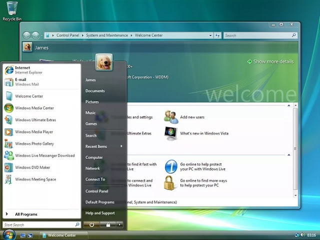 Tampilan Windows Vista | Gaptogeek