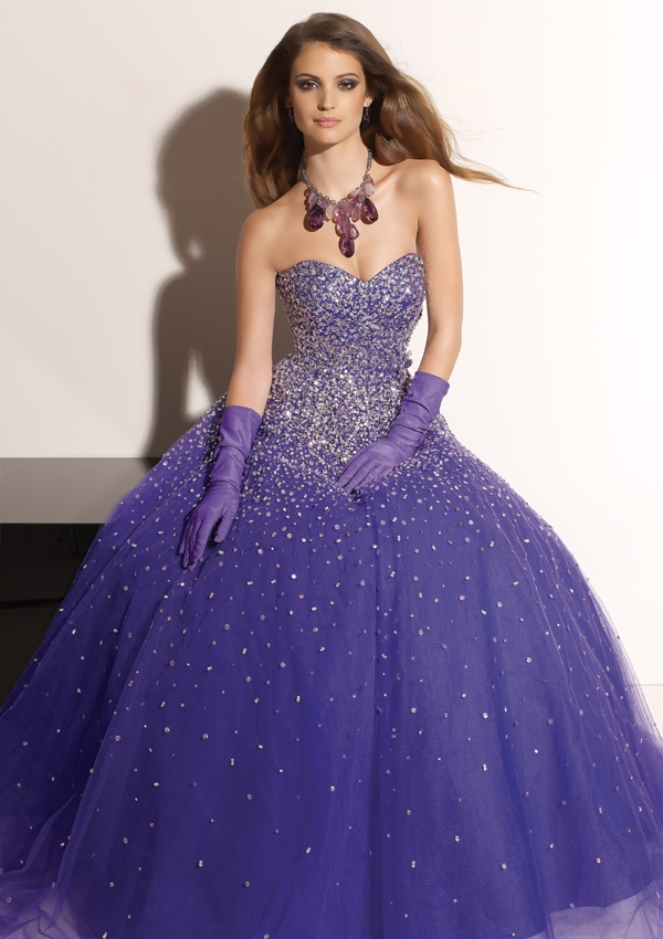 Elegant Purple Wedding Gowns