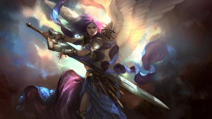 Papel de Parede Anjo da Guarda
