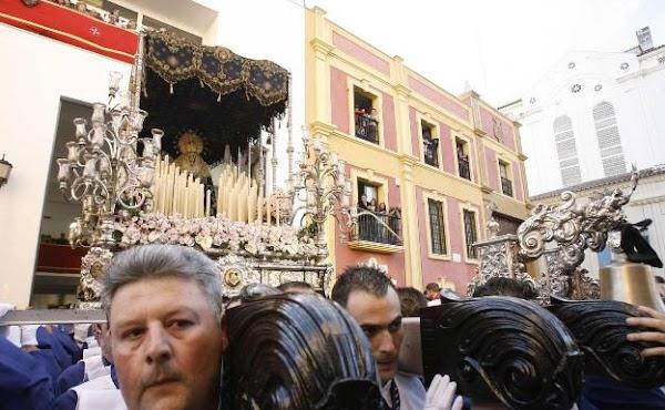 Horario e Itinerario Procesión extraordinaria de la Virgen de la Estrella en su trono del Martes Santo por el centenario de la cofradía. Málaga 15 de Junio del 2019