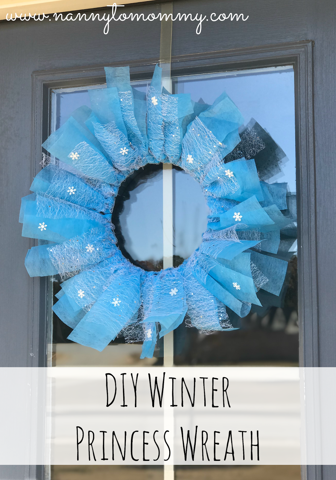 DIY Winter Princess Holiday Wreath