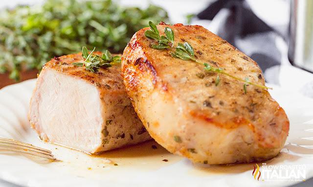 air fryer pork chops sliced