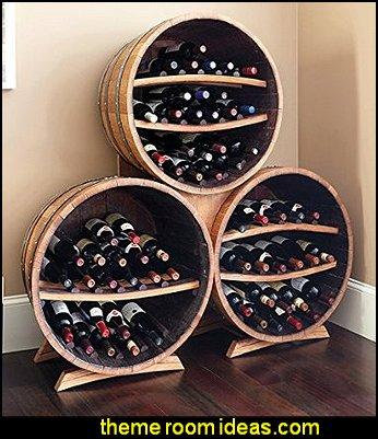 Half Barrel Bottle Racks Triple Stack