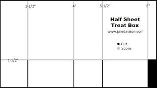 Half Sheet Treat Box Template ~ www.juliedavison.com