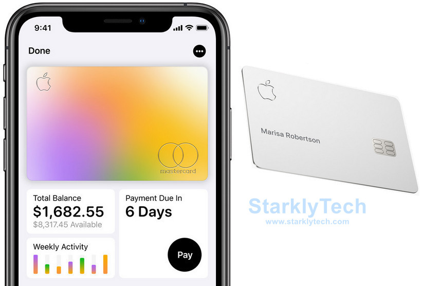 Apple Card Software User Interface and the Apple Card
