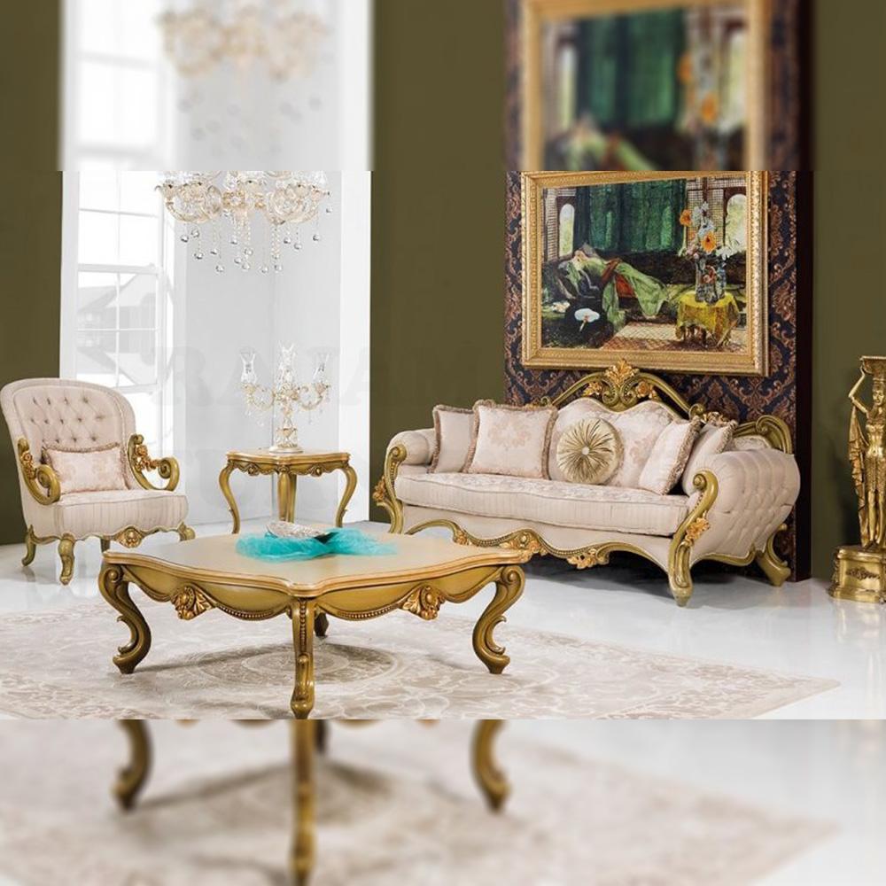 Elegant Set Sofa Tamu Mewah Jepara Luxury Golden Carving RM-0007