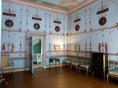 Etruscan dressing room, Osterley, designed by Robert Adam
