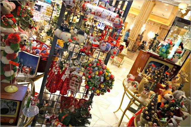 Navidad en Las Vegas 2017: Tienda Decoración del Hotel Paris