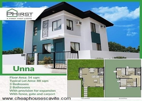 Phirst Pak Homes General Trias Affordable House and Lot for Sale