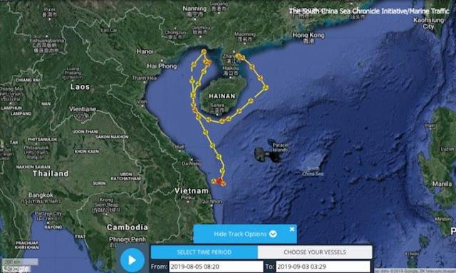Tàu cẩu của Trung Quốc đang ở trong lãnh hải Việt Nam