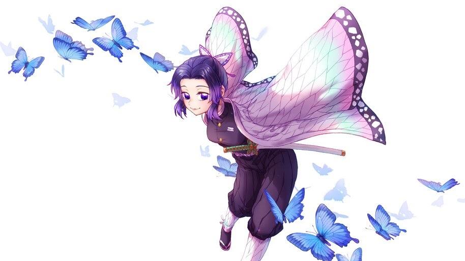 Shinobu, Butterflies, Kimetsu no Yaiba, 4K, #7.200
