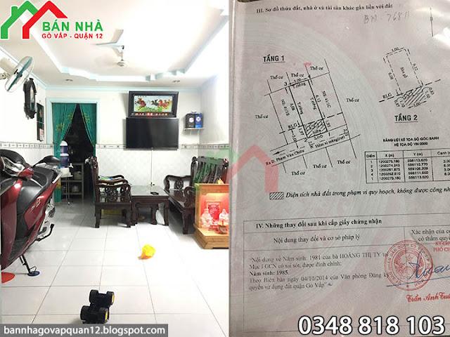 Bán Nhà hẻm Phạm Văn Chiêu phường 14 Gò Vấp