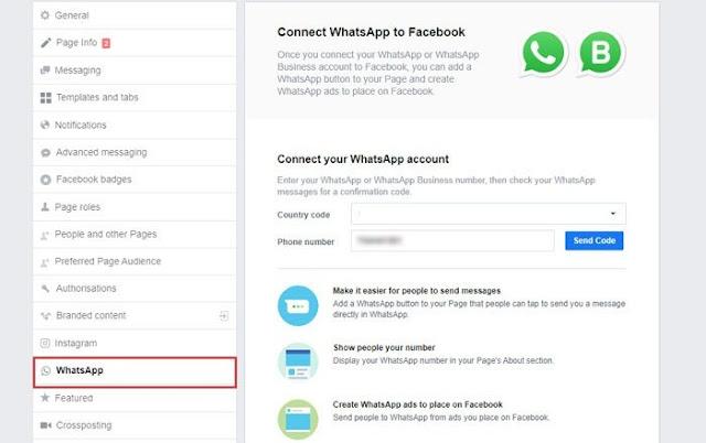 Cara menghubungkan WhatsApp ke Halaman Facebook