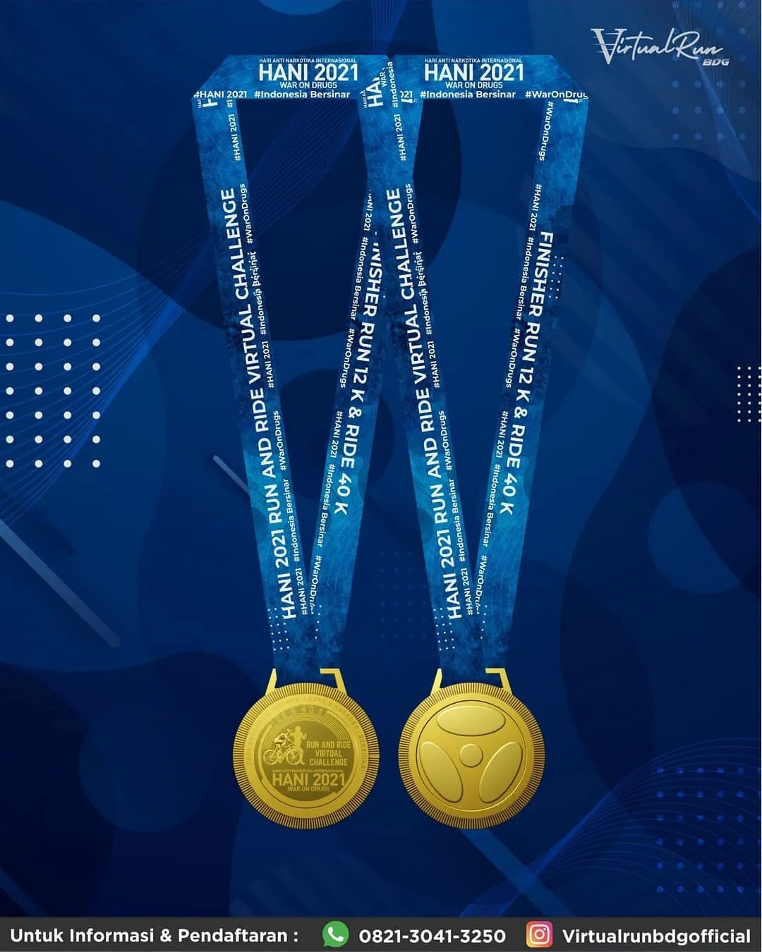 Medali � Virtual Run & Ride - Hari Anti Narkotika Internasional • 2021