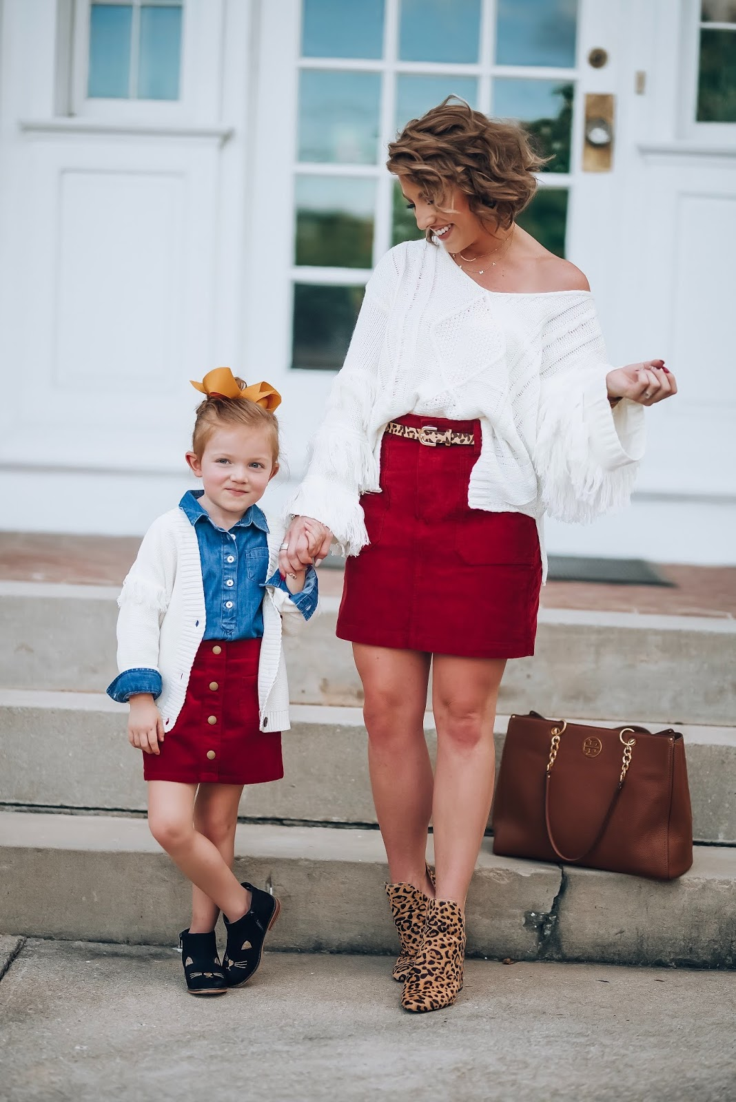 Fall Style: Corduroy Skirts & Fringe Detail Sweaters - Something Delightful Blog