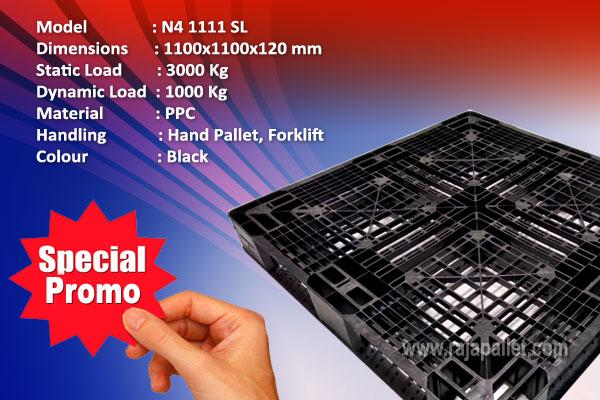 Promo Pallet Plastik Bekas Ukuran 1100x1100x120 mm