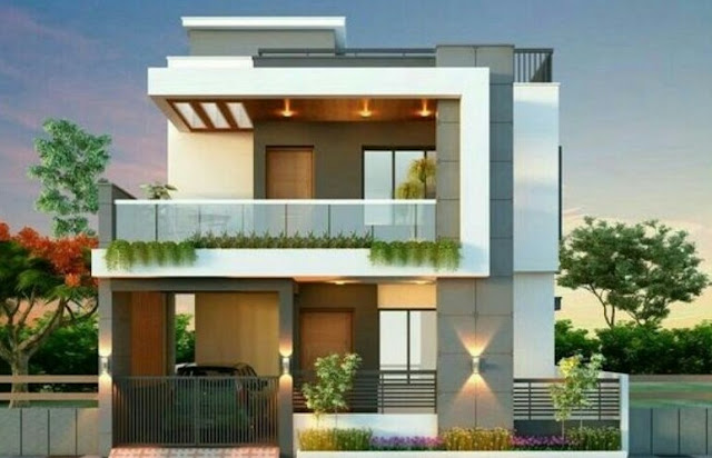 2 story house design with rooftop