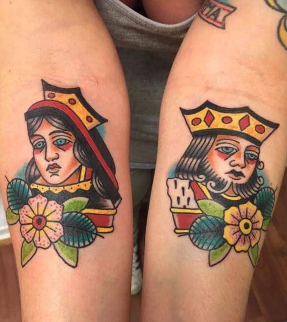 King And Queen Tattoos
