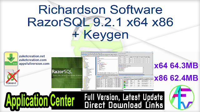 Richardson Software RazorSQL 9.2.1 x64 x86 + Keygen