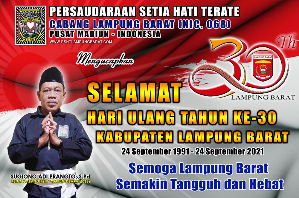 Selamat HUT Ke-30 Kabupaten Lampung Barat