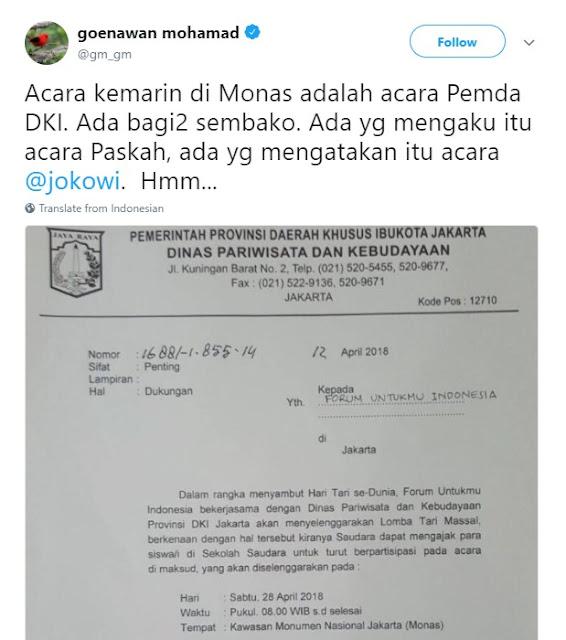 "Jawaban Telak untuk Pendiri Tempo yang Sebar Hoaks Acara ""Untukmu Indonesia"""