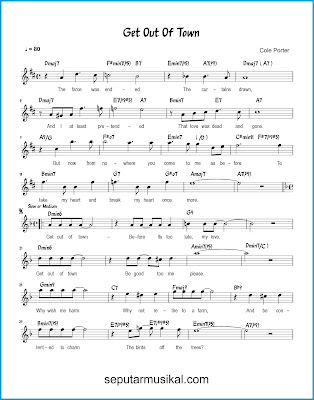 Get Out of Town 1 chords jazz standar