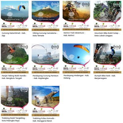 API 2018 Wisata Olahraga Indonesia Terpopuler