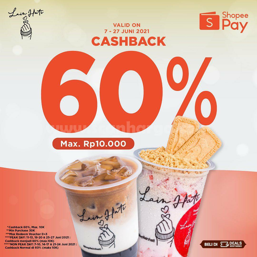 Kopi Lain Hati Promo Voucher Cashback 60% dengan ShopeePay