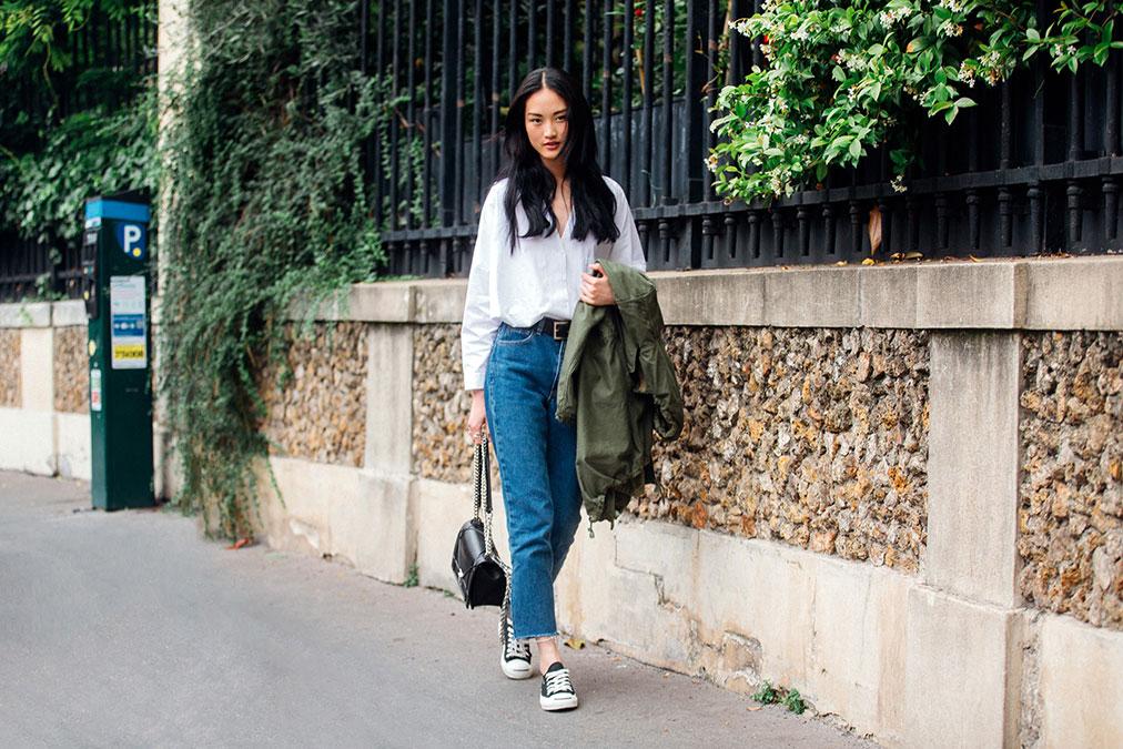 Street Style: Jing Wen's Classic Denim