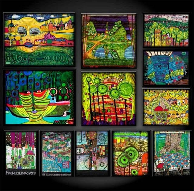 Hundertwasser-paintings