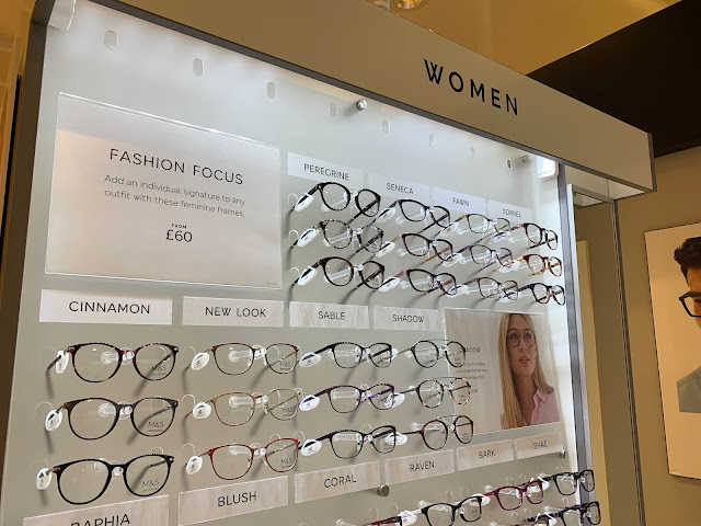 Marks and Spencer Glasses Display