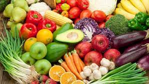 colourful healthy  food
