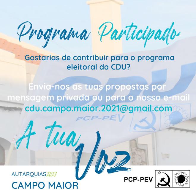 Propostas Programa Eleitoral CDU Campo Maior