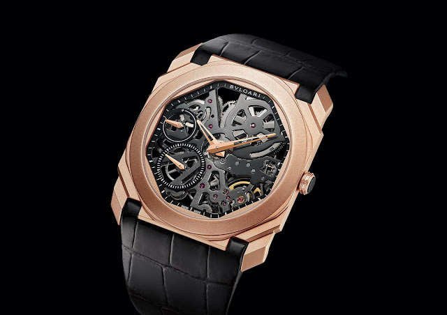Bulgari Octo Finissimo Skeleton Sandblasted in rose gold (ref. 102946)