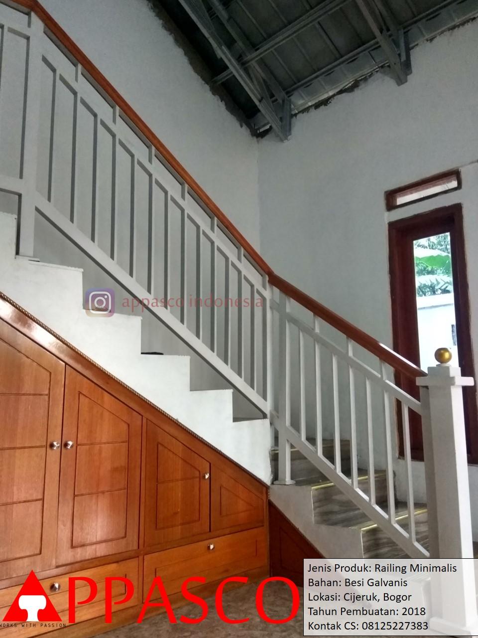 Railing Tangga Besi Minimalis di Cijeruk Bogor