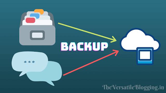 Backup Your Phone Data Online | TheVersatileBlogging.in