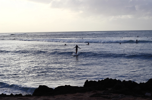 surfing sunset beach, Hawaii