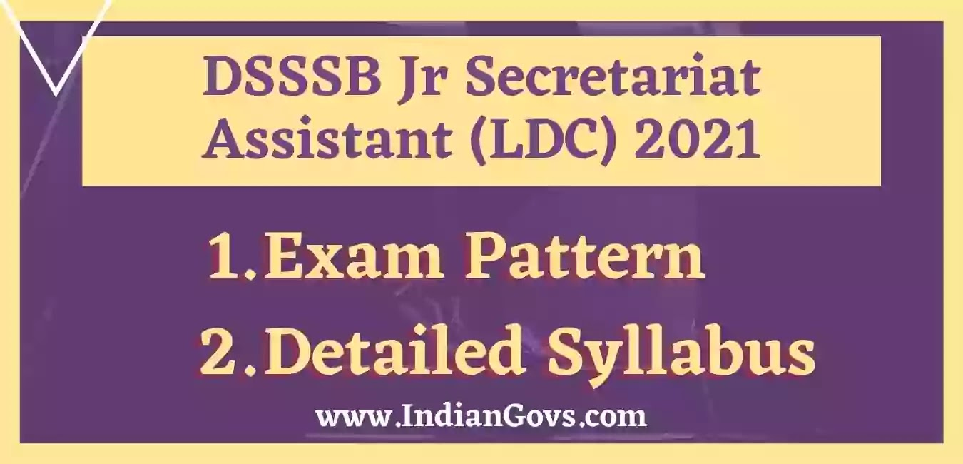 dsssb ldc syllabus exam pattern