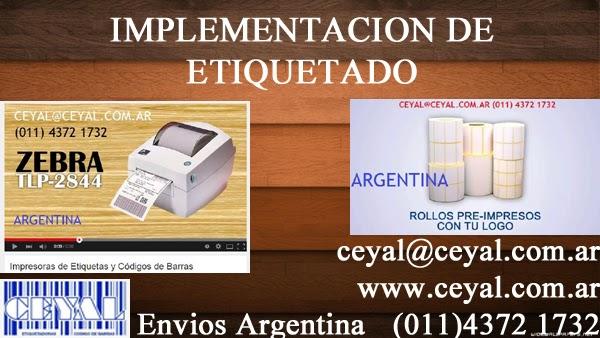 sistema pesaje y etiquetado  textil hombre Argentina capital federal