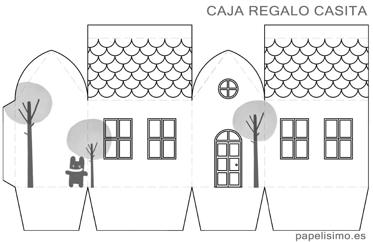 Fichas de primaria recortables de casas for Casa regalo