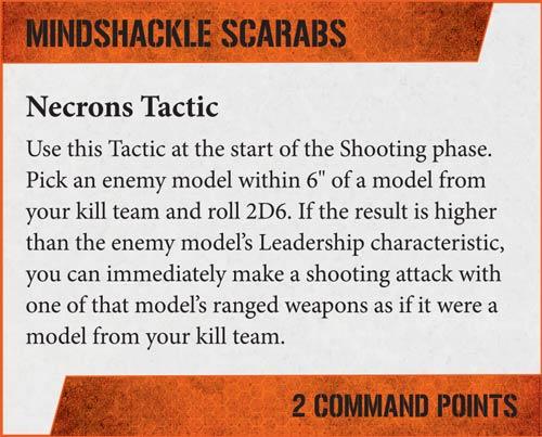 Tácticas Kill Team Necrones