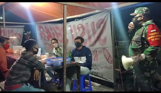 Koramil 24/Klaten utara Laksanakan Patroli Penegakan Disiplin Protokol Kesehatan
