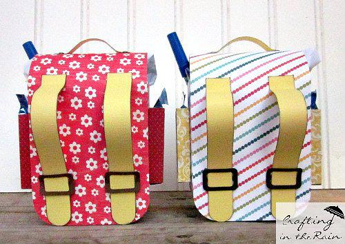 back side of paper backpacks